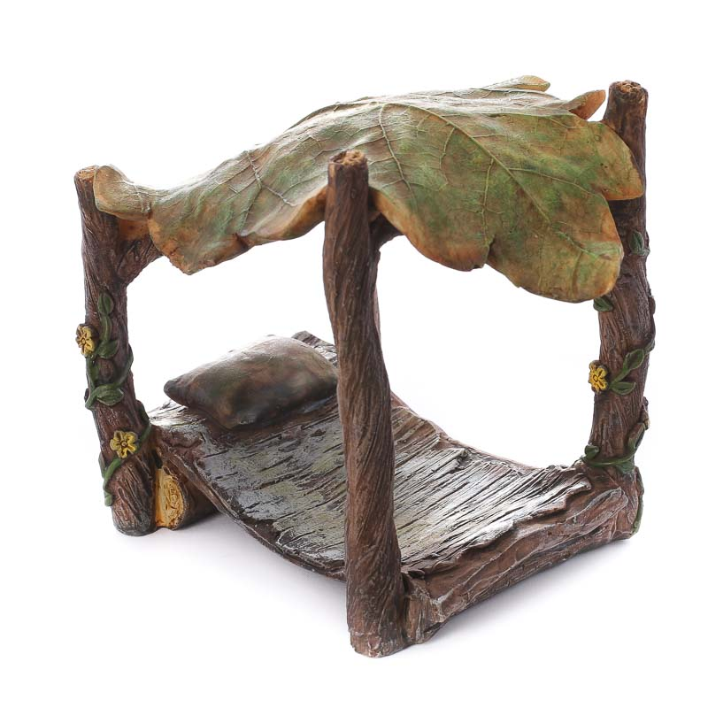 Compare Size  sc 1 st  Factory Direct Craft & Fairy Garden Leaf Canopy Bed - Fairy Garden Miniatures - Dollhouse ...