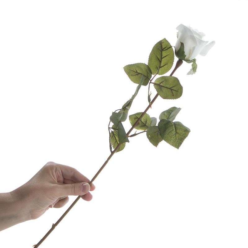 Dozen White Artificial Long Stem Roses Picks And Stems Floral Supplies Craft Supplies