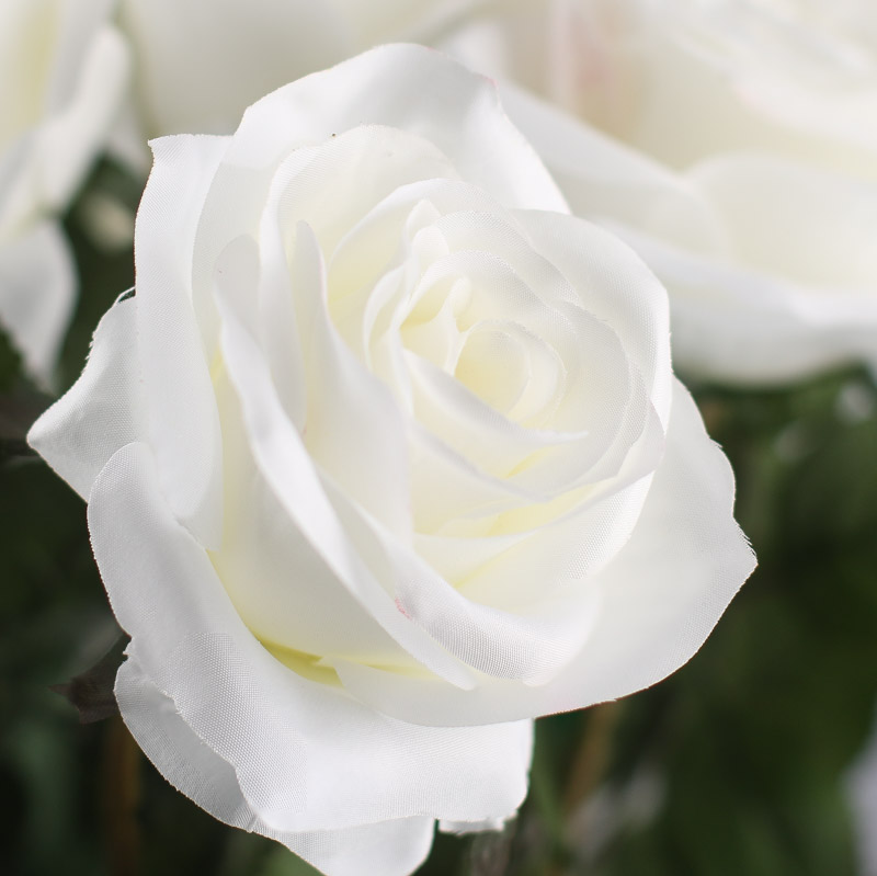 White Artificial Long Stem Roses Picks And Stems Floral Supplies Craft Supplies