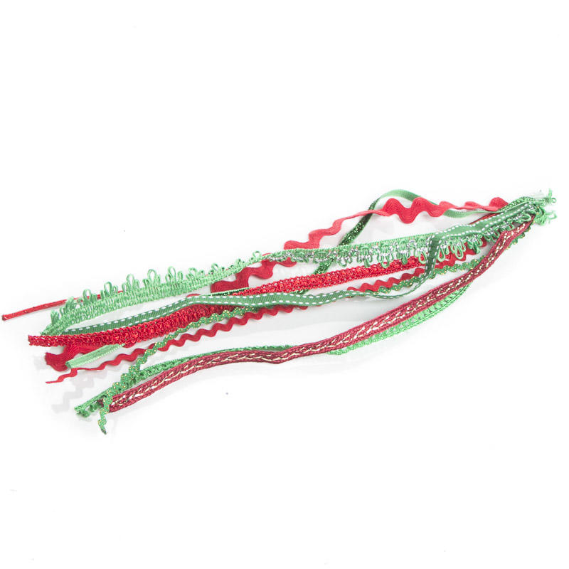 Assorted red and green holiday trim ribbon and trims for Craft ribbons and trims