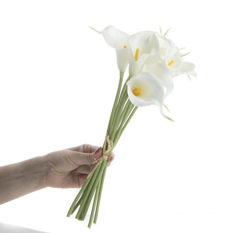 white artificial calla lily bundle bushes bouquets