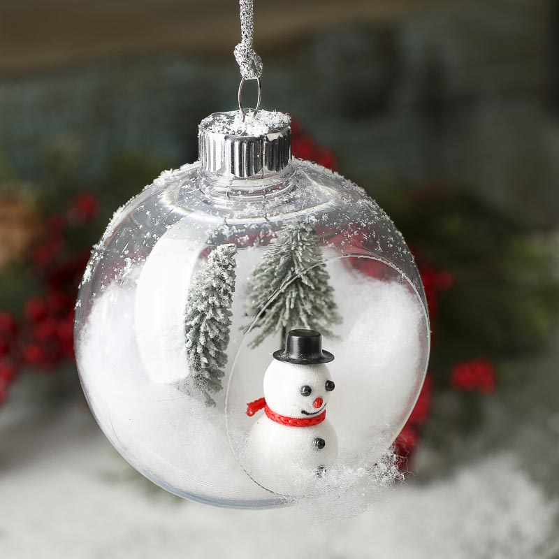 Plastic Open Christmas Ball Ornament - Christmas Ornaments ...