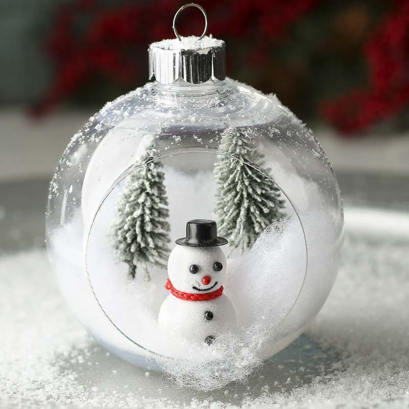 Plastic open christmas ball ornament christmas ornaments for Clear christmas bulbs for crafting