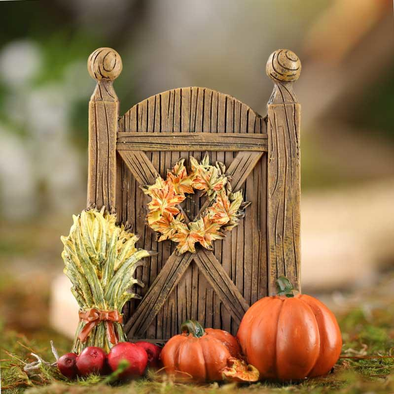 Miniature Fall Harvest Door Table Decor Fall And