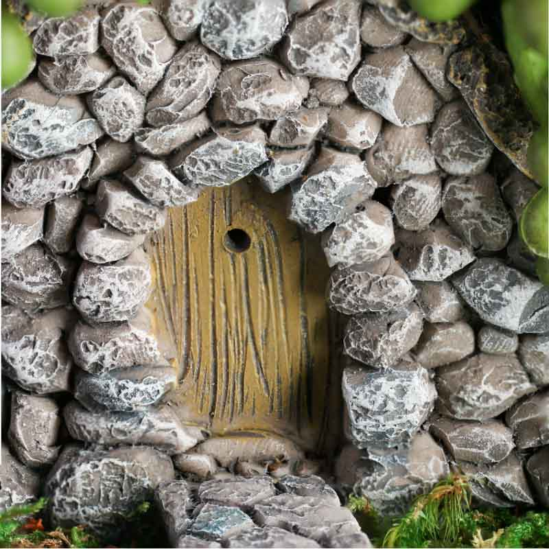 Miniature Faux Stone Door And Walkway Fairy Garden