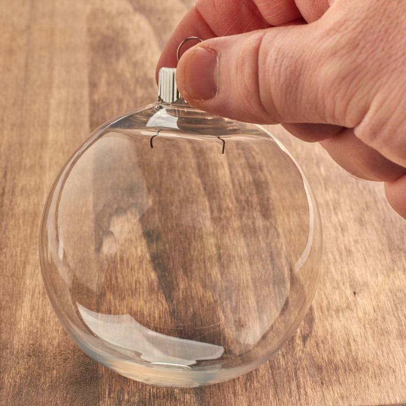 Clear Plastic Ball Ornament Acrylic Fillable Ornaments