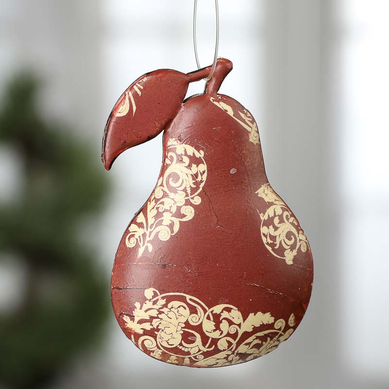 French Country Pear Ornament - Christmas Ornaments ...
