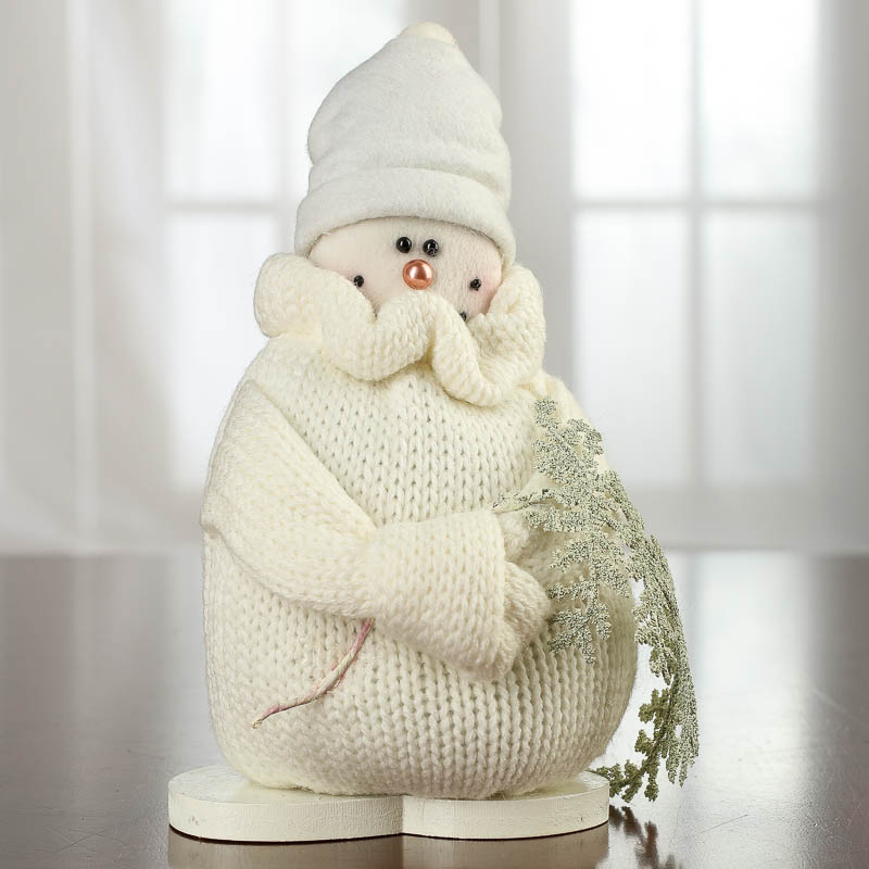 Knitted Snowman Shelf Sitter Table Decor Christmas And