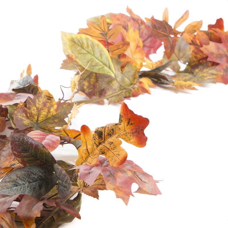 Fall Artificial Leaf Garland Garlands Floral Supplies