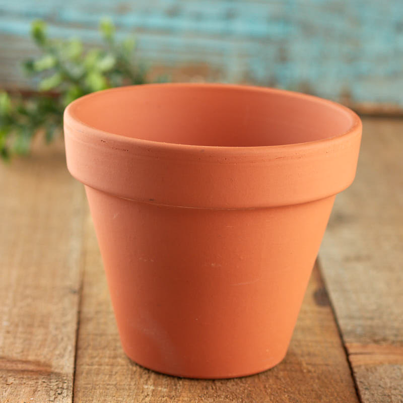 Small terra cotta flower pot what 39 s new craft supplies for Small clay flower pots