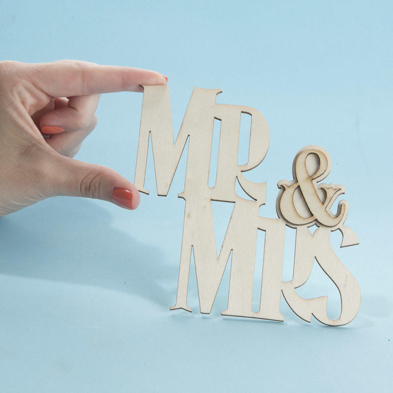 Unfinished Wood Laser Cut Quot Mr Amp Mrs Quot Cutout Word And
