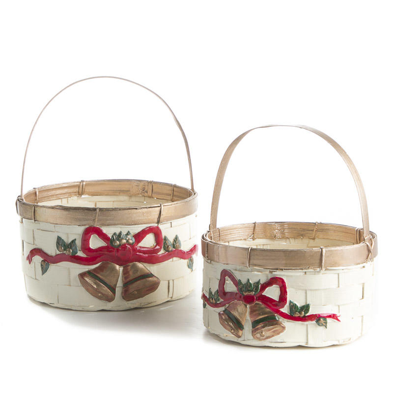 Ivory Christmas Wicker Baskets Baskets Buckets Boxes