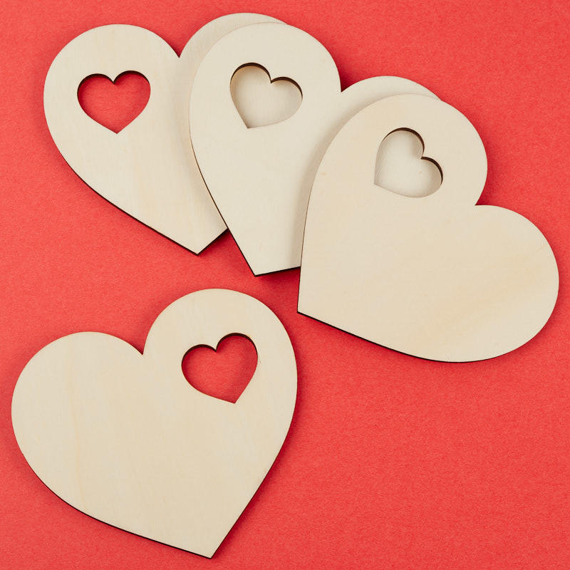 Large unfinished wood heart cutout wooden hearts for Wooden hearts for crafts