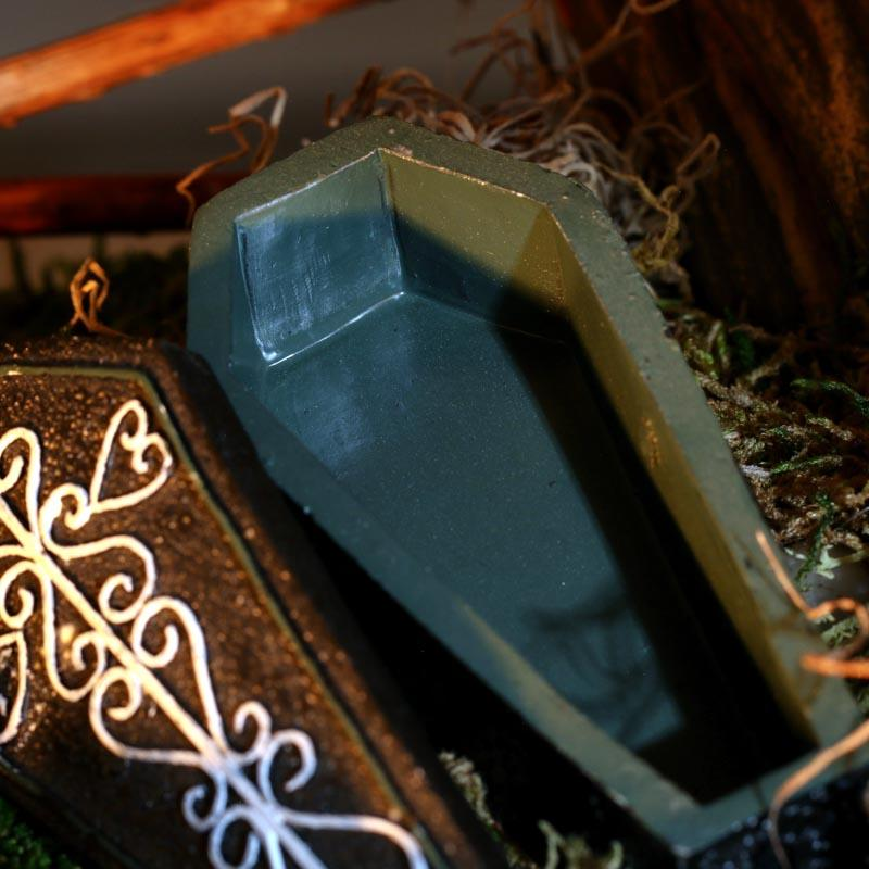 Miniature Halloween Coffin Table Decor Fall And