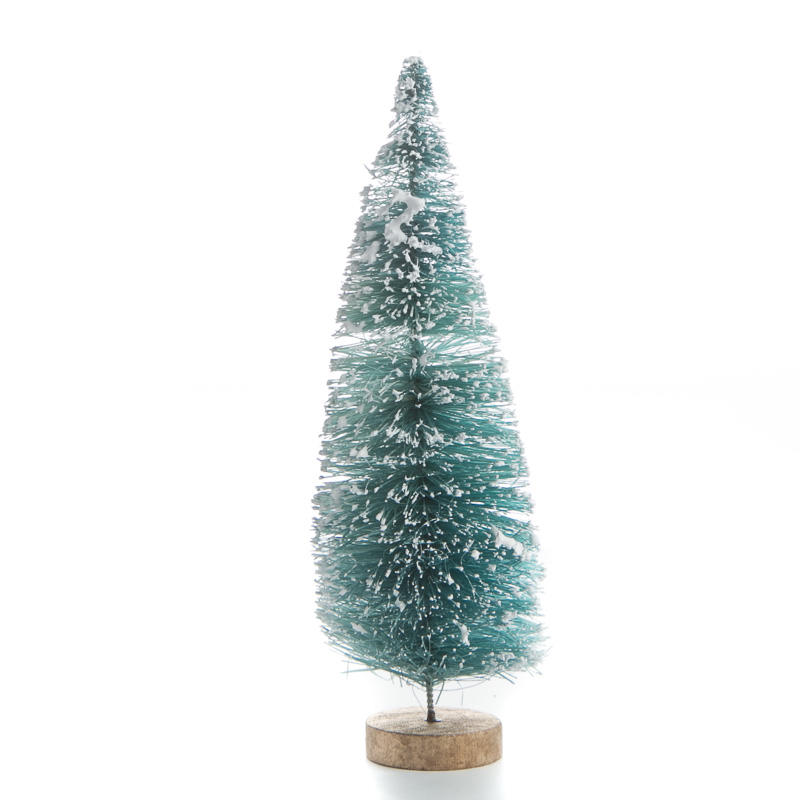 Frosted Blue Green Bottle Brush Tree - Christmas Miniatures ...
