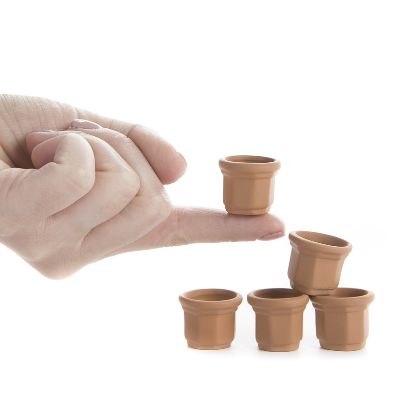 Miniature terra cotta flower pots top sellers for Small clay flower pots