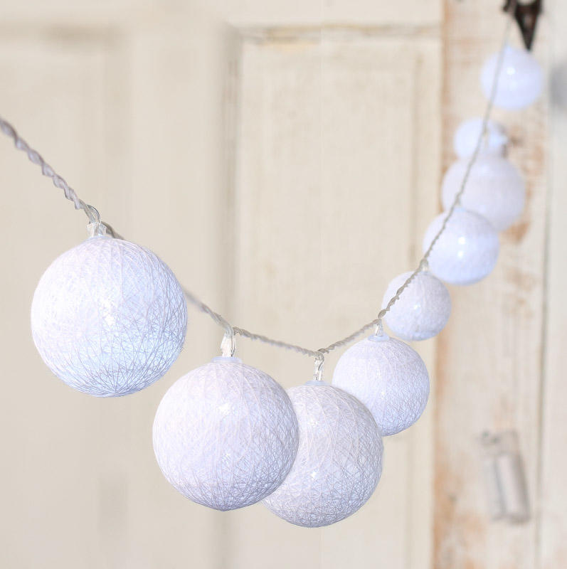 String Globe Lights White : White Globe Lantern LED String Lights - Lighting - Christmas and Winter - Holiday Crafts