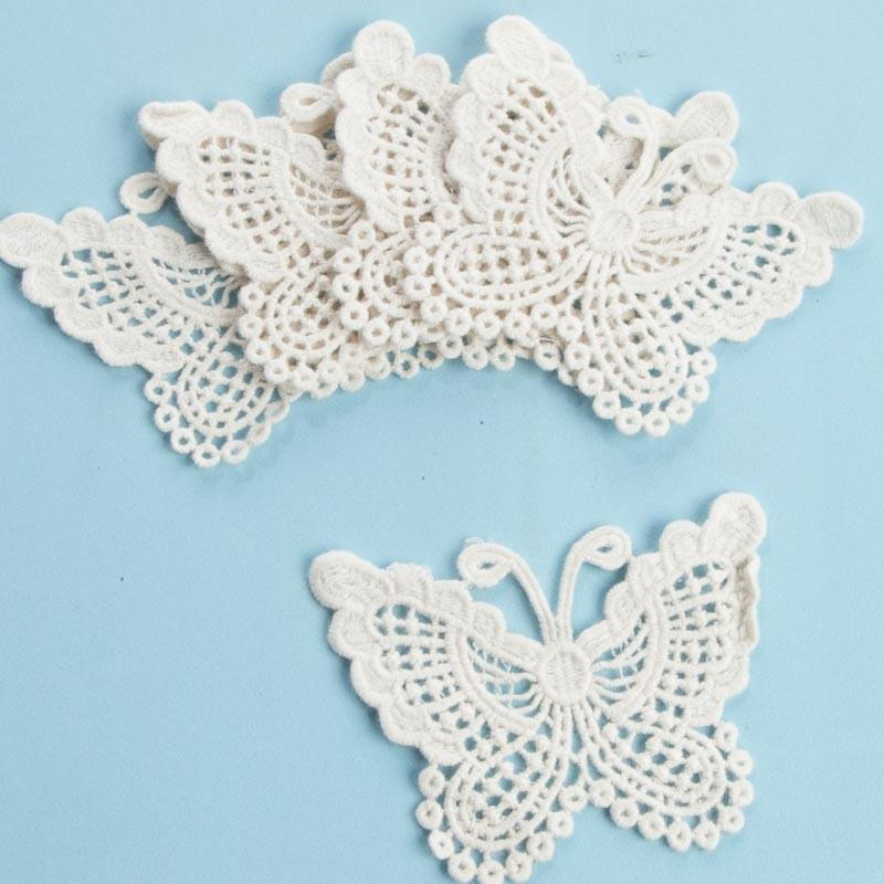 Ivory Butterfly Doily Appliques Crochet And Lace Doilies Home Decor