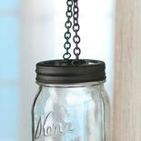 Black Candle Lantern Mason Jar Lid