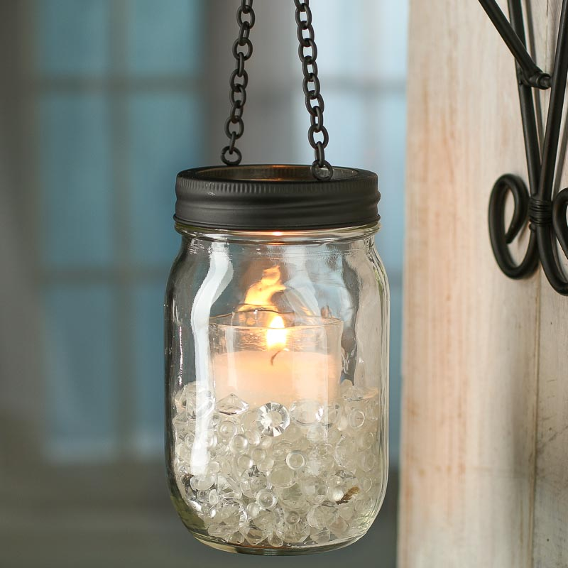 Black candle lantern mason jar lid jar lids basic for Mason jar candle crafts