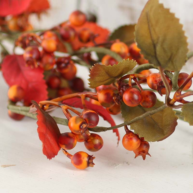 Fall Artificial Leaf And Berry Garland Garlands Floral