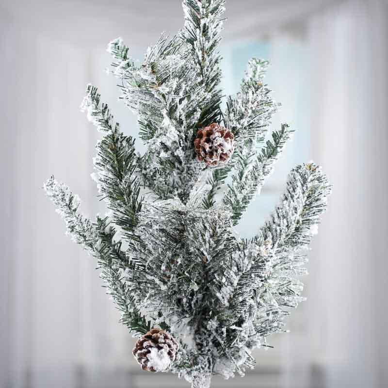 Christmas Tree Spray Snow.Flocked Snowy Artificial Pine Spray