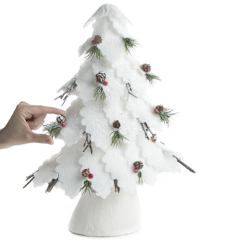 Sparkling Snow Covered Pine Tree - Trees and Toppers ...