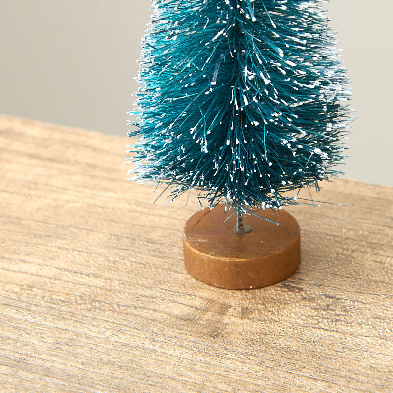 Blue And Green Christmas Tree: Frosted Blue Green Bottle Brush Tree