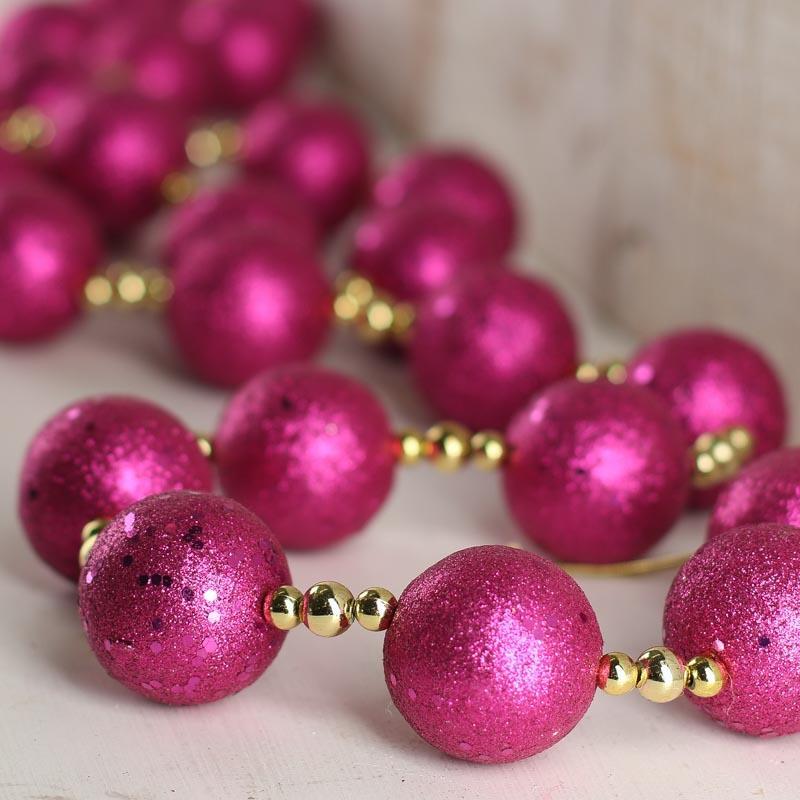 Christmas Ball Garlands.Glitter Ball Ornament Garland