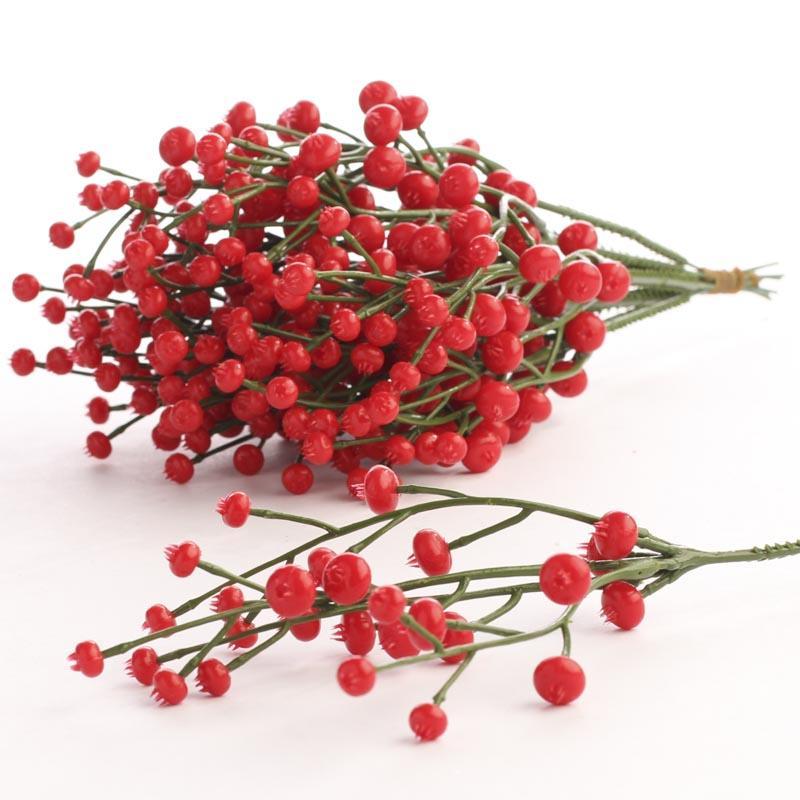 Red Artificial Berry Picks - Pip Berries - Primitive Decor