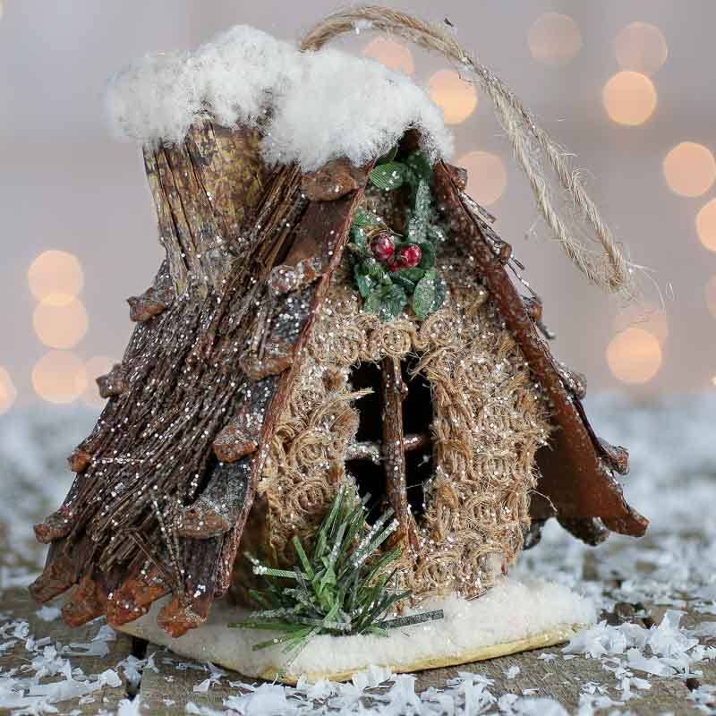 Rustic Christmas Birdhouse Ornament - Christmas Ornaments ...