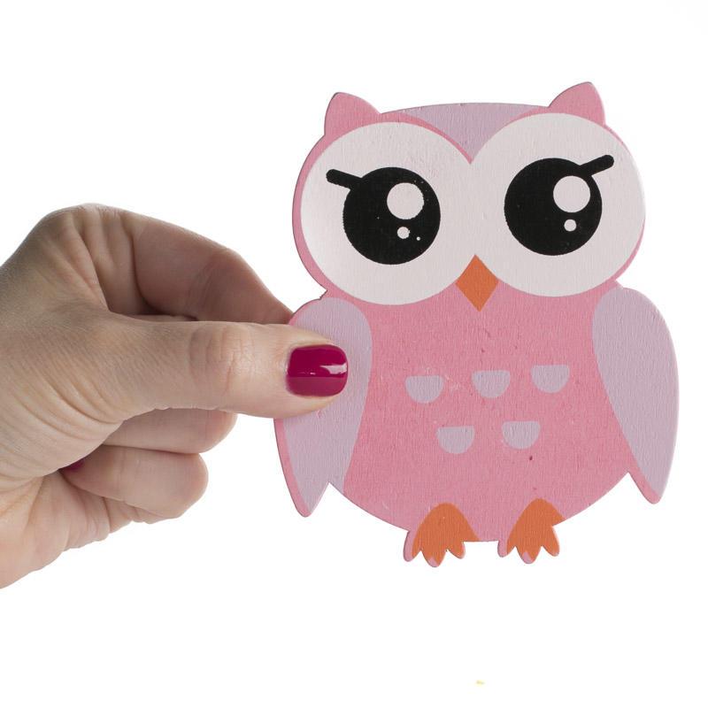 Finished Pink Baby Owl Wood Cutouts Wood Cutouts