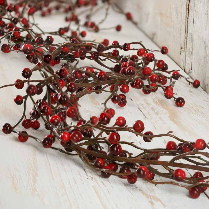 Red And Burgundy Artificial Berry Garland Christmas Garlands Christmas And Winter Holiday Crafts Factory Direct Craft
