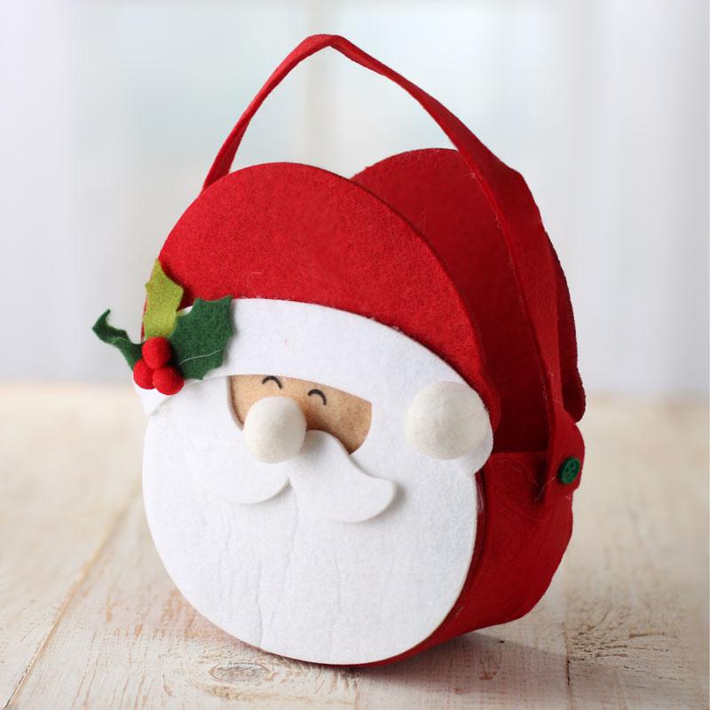 Felt Santa Christmas Bag Holiday Craft Supplies