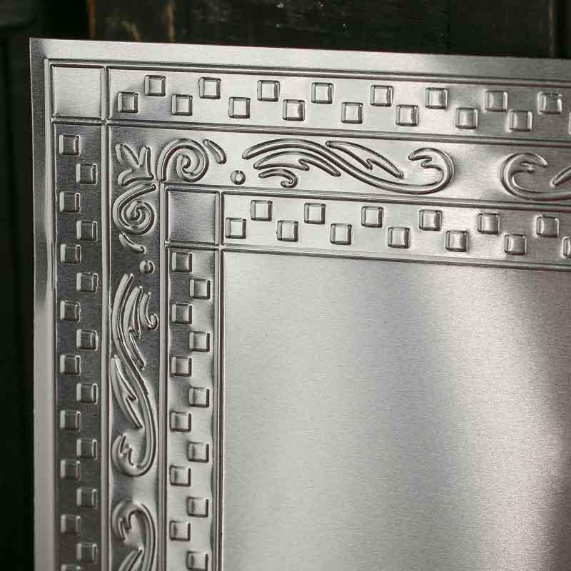 Galvanized Metal Vintage Inspired Ceiling Tile Ceiling