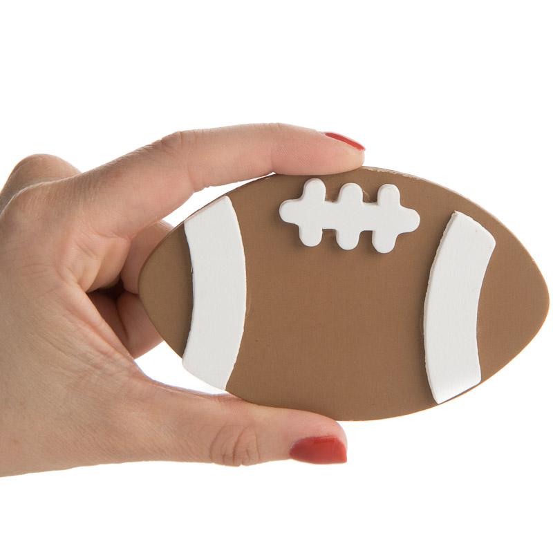 Painted Wood Football Cutout Sports And Cheerleading