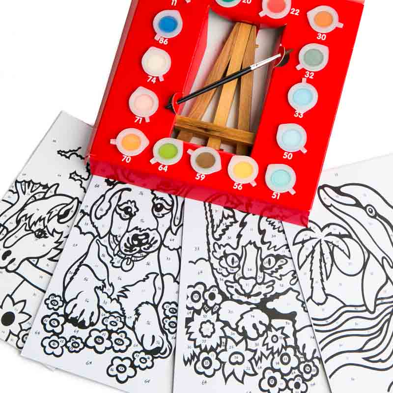 Painting By Numbers Kid's Craft Kit - Activity Kits - Kids ...