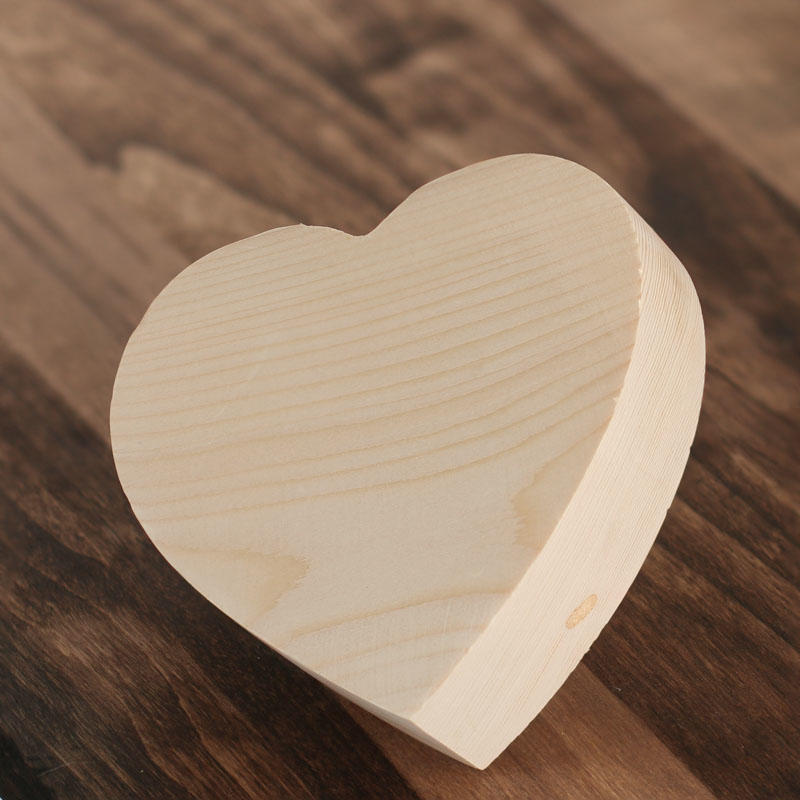 Chunky unfinished wood heart wooden hearts unfinished for Wooden hearts for crafts
