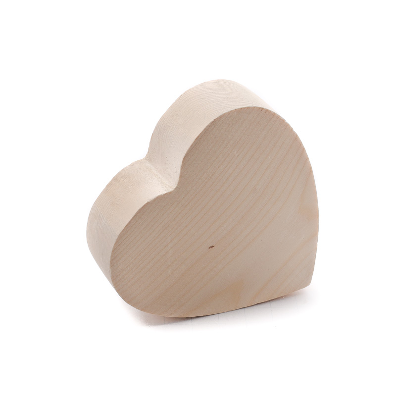 Chunky unfinished wood heart wooden hearts unfinished for Wooden craft supplies online