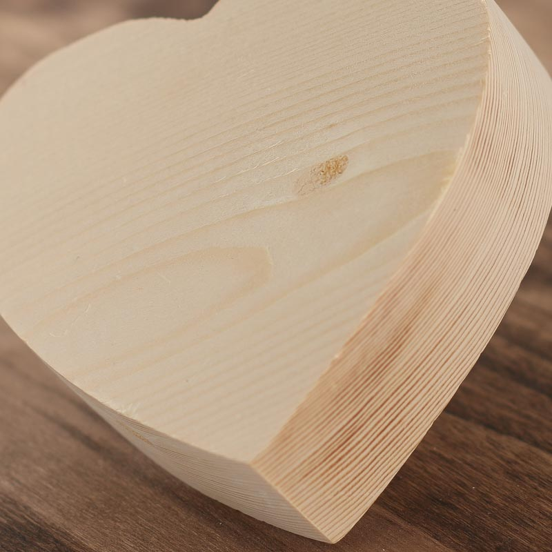 """4-1/4"""" Chunky Unfinished Wood Heart - Wooden Hearts and ..."""