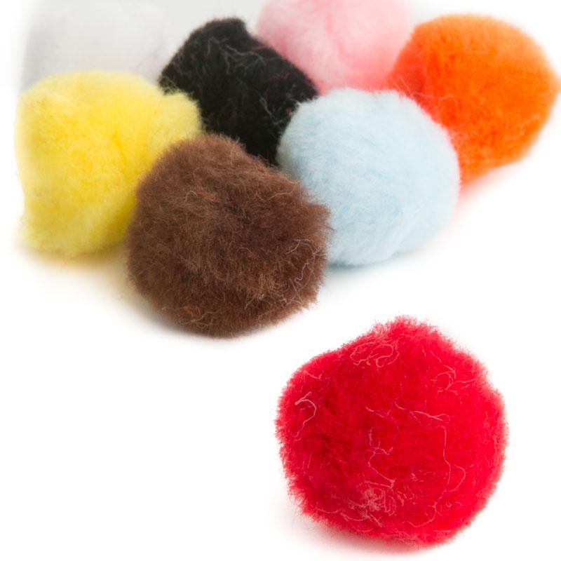 Multicolored craft pom poms pom poms basic craft for Pom pom crafts