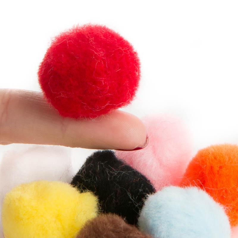 Multicolored craft pom poms craft pom poms kids crafts for Pom pom crafts