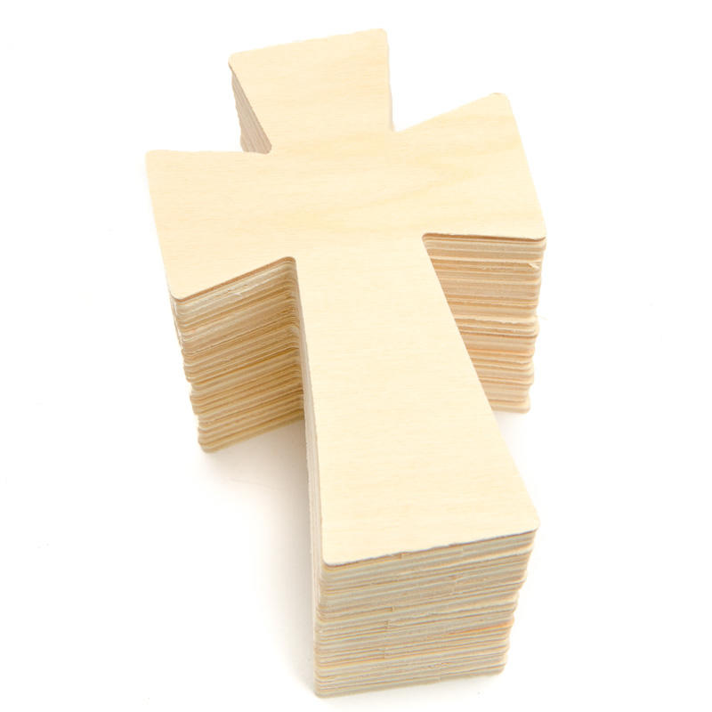 Unfinished Wood Cross Cutouts