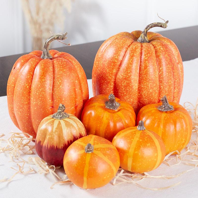 Assorted Artificial Pumpkins Fall And Halloween