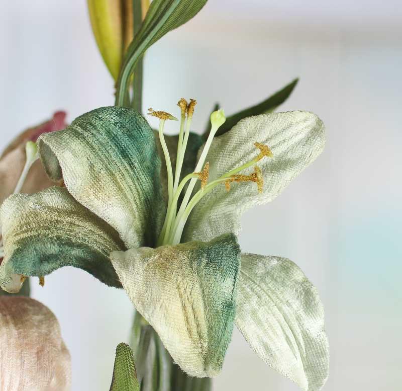 Velvet Artificial Lily Stem Picks And Stems Floral