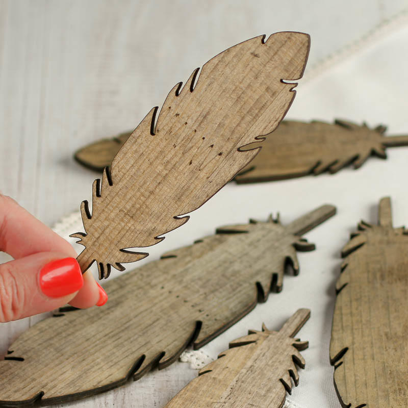 Distressed Wood Feather Cutouts Feathers And Boas Kids