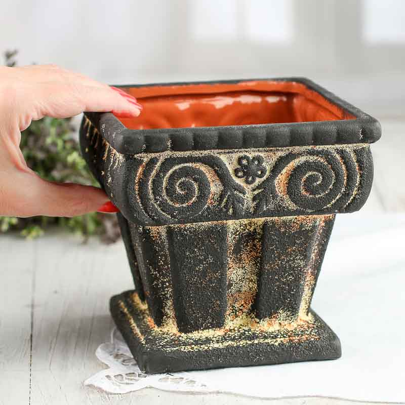 Ancient greece ceramic planter table and shelf sitters for Ancient decoration