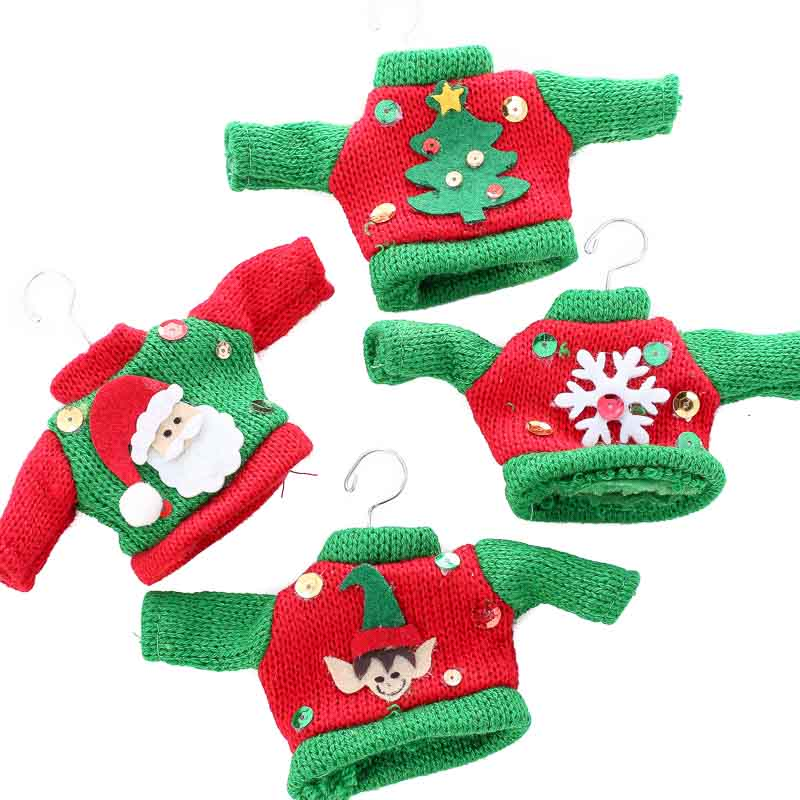 Knitted Ugly Christmas Sweater Ornament - Christmas ...