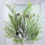 Flocked Snowy Artificial Hemlock Sprays