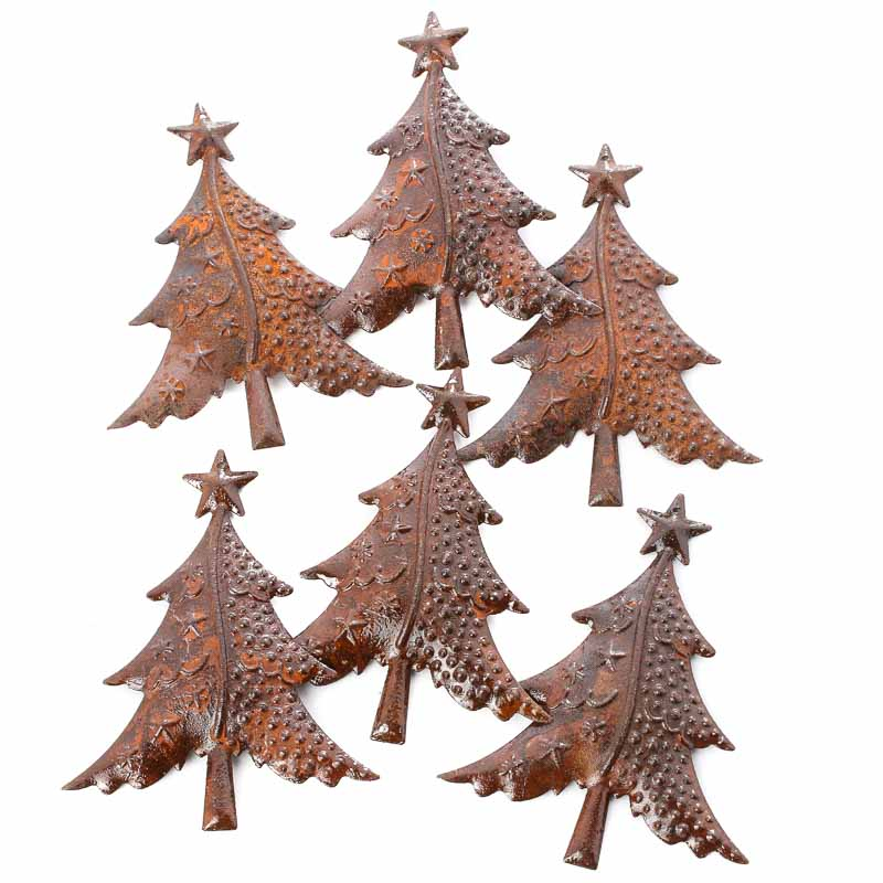 Rusty Tin Christmas Trees